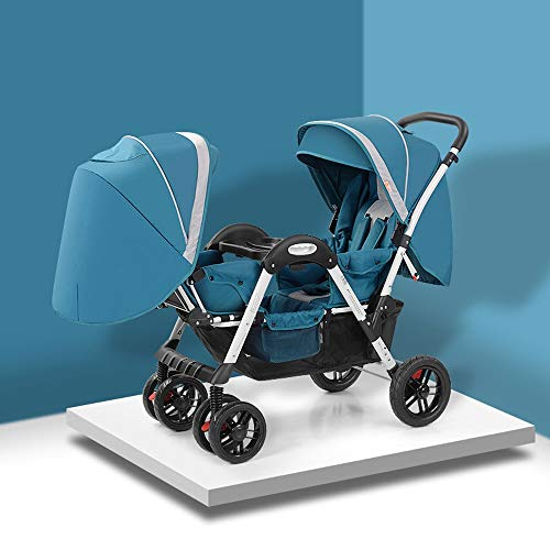 Buy Discount MQQ Folding Lightweight Double Baby Stroller Baby Face to Face Carriage with Sleep/Sit/...