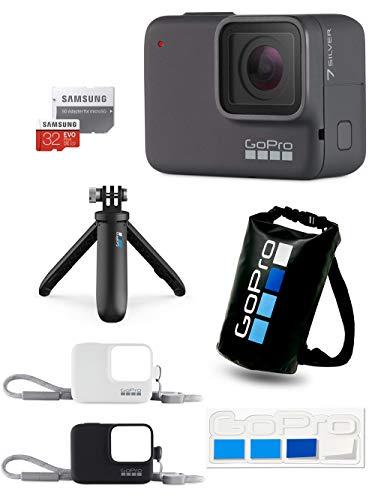 【GoPro公式限定】GoPro HERO7 Silver + Shorty +スリーブ+ランヤード(黒&白) + SDカード32GB + 非売品ドライバッグ&ステッカー 【国内正規品】