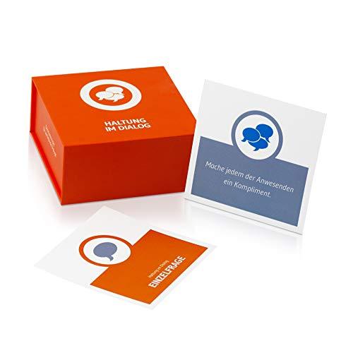 Haltung im Dialog Business-Kartenspiel für Erwachsene   Fragespiel für Kollegen zur Teamentwicklung und zwischenmenschlichen Begegnung für agiles Projektmanagement und andere Coaching Situationen