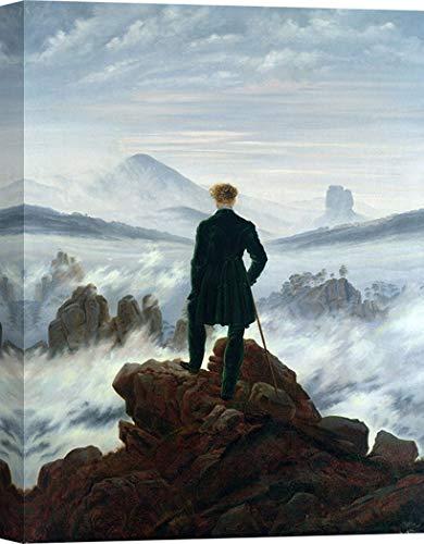 Art Print Cafe – Kunstdruck auf Leinwand – Caspar David Friedrich, Der Wanderer über dem Nebelmeer – 60x40 cm