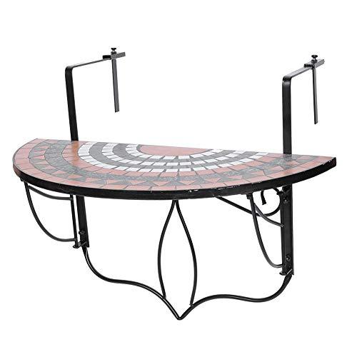 Mesa colgante de balcón de Estink de alta calidad con diseño de mosaico
