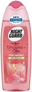右のガードシャワー+オイルピンクジャスミン250ミリリットル x2 - Right Guard Shower+ Oils Pink Jasmin 250ml (Pack of 2) [並行輸入品]