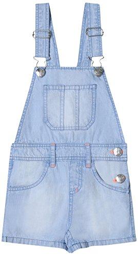 ESPRIT KIDS Mädchen RL2101304 Latzhose, Blau (Bleached Denim 413), 128