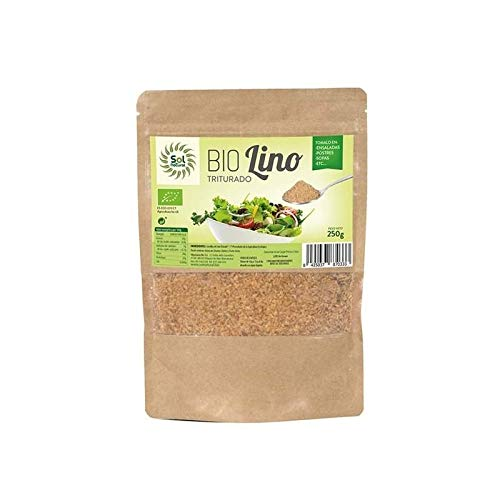 SOLNATURAL Semillas DE Lino Doradas TRITURADAS Bio 250 g, No aplicable