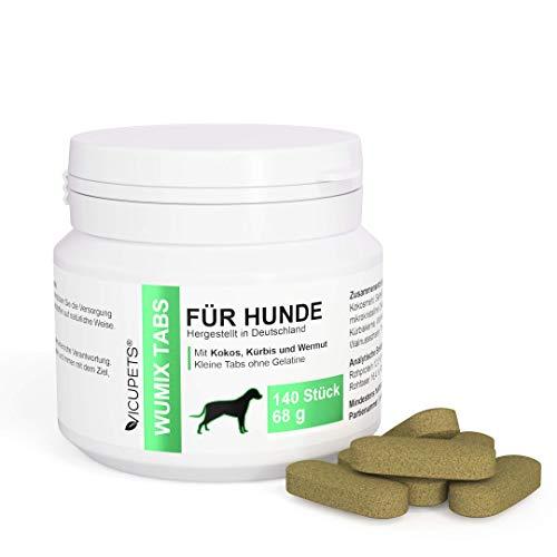 Vicupets Wumix Tabs Wurmkur Hund | Entwurmungstabletten für Hunde | Prophylaktische Wurmkur ohne Chemie | 100% Natürliche Tabletten | 140 Stück |
