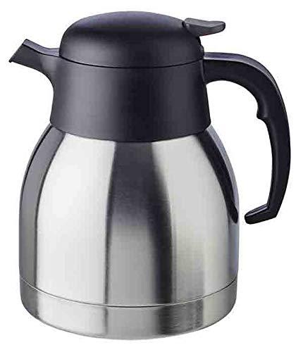 """APS Isolierkanne """"Classic"""", Kaffeekanne mit Drehverschluss, Ø 14 cm, H: 19 cm, doppelwandiger Edelstahl, für heiße und kalte Getränke, nicht spülmaschinengeeignet, 8 Tassen/1,0 Liter"""