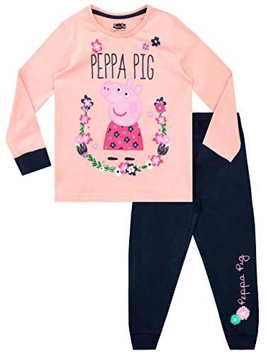 Peppa Pig Pijamas de Manga Larga para niñas Rosa 3-4 Años