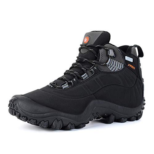 Zapatillas Trekking Hombres Verano,XPETI Zapatos Senderismo al Aire Libre Trail Botas de Montaña Impermeables Calzado Alpinismo Escalada Altas Invierno Bajas Seguridad Negro 42