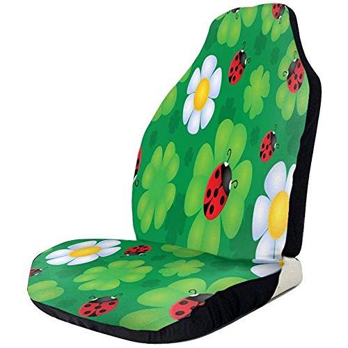 Alice Eva Sièges d'auto couverture belle coccinelle Clover Floral sièges avant couverture auto siège protecteur pour SUVs