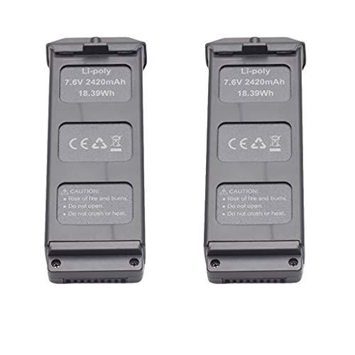 Jasinto 2PCS 7.6 V 2420 mAh Lipo Battery...