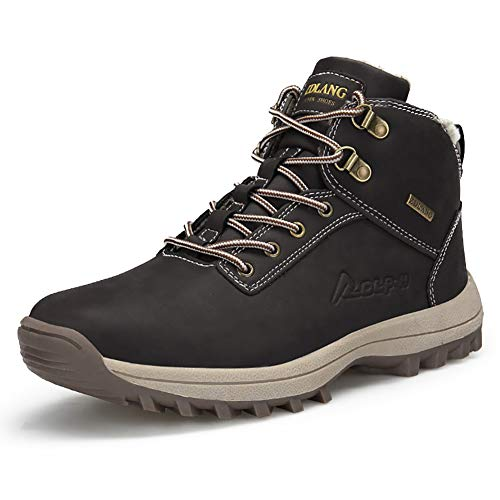 JIANKE Botas de Senderismo para Hombre Zapatillas de Neieve Antideslizante Invierno Zapatos...