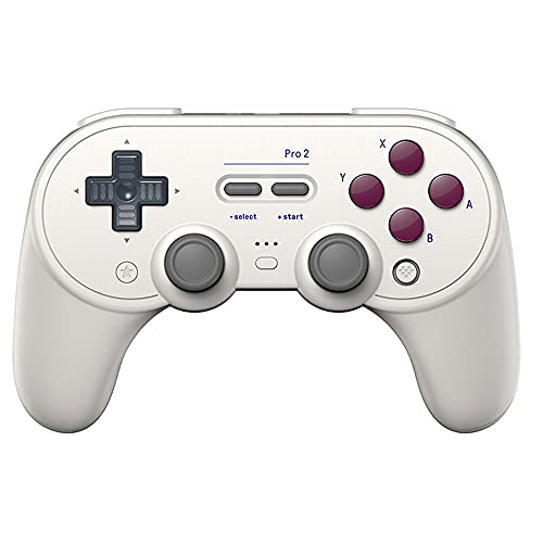 Zexrow Mando para Nintendo Switch, Mando Pro Controller Mando Pc Inalambrico con Función Gyro Axis/Dual Shock Y Turbo Compatible con Nintendo Switch (Color : White)