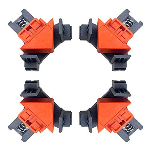 Boloniprod 4Pcs Angle Clamps Bar Clamps Right Angle Fixing Clip Multi-function Woodworking Right Angle Clamp Adjustable Swing Corner Clamp Corner Clip Fixer for Welding,Wood-Working,Making Cabinets
