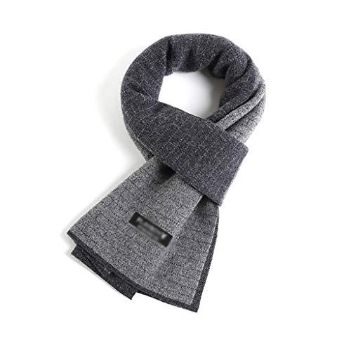Bandana Bufanda de la cachemira de los hombres invierno caliente larga de la bufanda de lujo caliente ultra suave de moda caja de regalo de los hombres del primer simple del color de lana Hombres Bufa