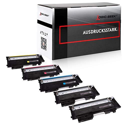 5 Toner kompatibel für Samsung Xpress C430W C480W Farblaserdrucker - CLT-P404C/ELS - Schwarz je 1500 Seiten, Color je 1000 Seiten
