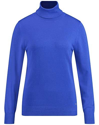 Gerry Weber Damen Pullover Mit Rollkragen Figurumspielend Electric Blue 44