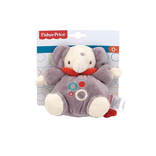 ARDITEX FP10088 Muñeco Peluche de Bebé Sentado de 15cm con sonajero de Mattel-Fisher-Price