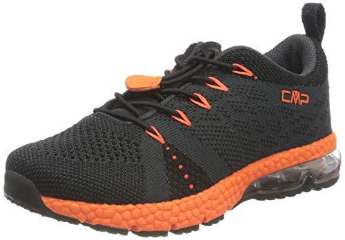 C.P.M. Kids Knit Shoe, Scarpa da Fitness Maglia Unisex-Bambini, Antracite/Flash Orange, 32 EU