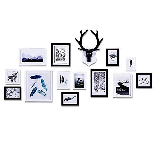 Fotobehang Combinatie fotolijst Studio Slaapkamer Creatieve Wanddecoratie Schilderij