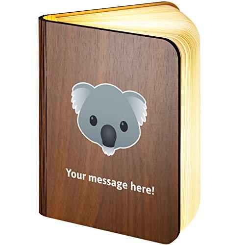 Lámpara de madera plegable con diseño de Koala Emoji, madera, Large