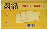 School Smart 088723 5 x 8 In. Heavyweight Ruled Index Card44; Canary44; Pack - 100