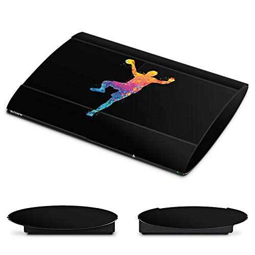 DeinDesign Skin kompatibel mit Sony Playstation 3 Superslim CECH-4000 Folie Sticker Handball Farbklecks Ball