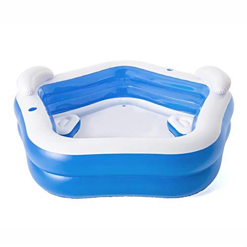 SEXWOMEN Piscina familiar, Fácil de montar, Centro de natación Piscina familiar con asientos Patio trasero Piscina
