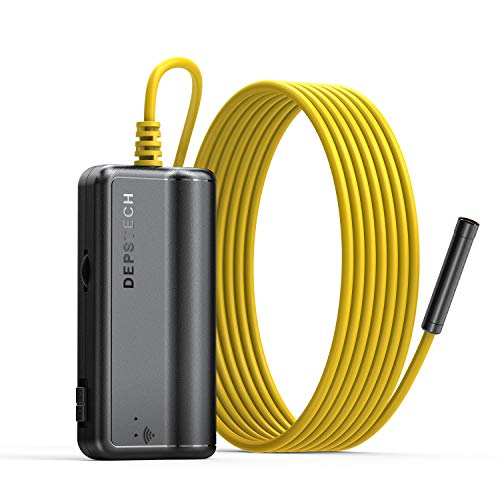 Wireless Borescope,DEPSTECH Upgraded HD 2.0 MP WIFI Endoscope Rechargeable Inspection camera with 2200mAh Battery snake camera for Android and iOS Smartphone Tablet-11.5ft
