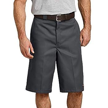 Dickies Men s 13 Inch Loose Fit Multi-Pocket Work Short Charcoal 42