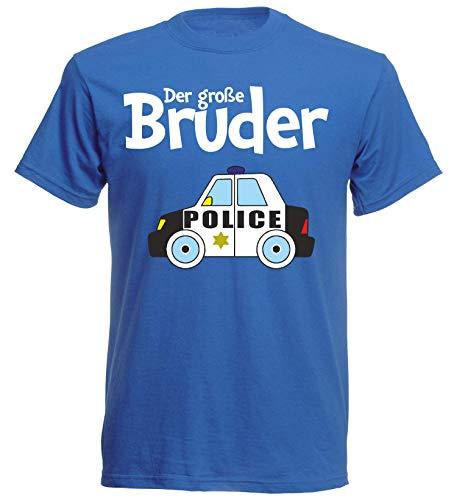 nationshirt Camiseta de manga corta para nios, diseo de polica azul 116 cm