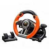 PXN-V3II Racing Game Steering Wheel PC Game Controller for PS3 /PS4 /SWITCH /XBOX /PC (Orange)