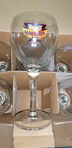 6 Gläser 33 cl Bier Malheur