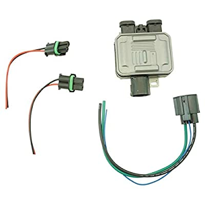 Engine Cooling Fan Control Module Relay w/Plug & Harness Compatible with Ford Lincoln New