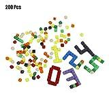 fghfhfgjdfj 200 Unids/Set Bloques de Construcción de Plástico Multicolor Ni?os Bebé Juguete Nuevo Rompecabezas Aprendizaje Educativo Juguete de Desarrollo Juego de Cerebro