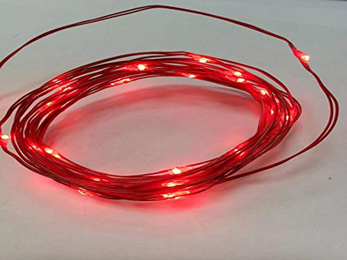 USB met afstandsbediening lichtsnoer, 10 M 100 lichtjes 8 functie koperdraad lichtslingers, LED lichtslingers-20 M 200 lichtjes rood