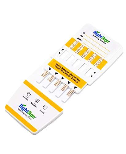 Fünffaches Drogenschnelltest Set für alle gängigen Drogen als Urin Test, DER Drogentest für Cannabis, Kokain, Amphetamine, Methampetamin, Opiate - Urintest & Drug test - THC, AMP, MET, OPI, COC, MDMA