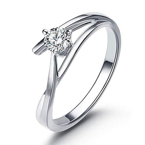 ketting 14Kt Effen Wit Goud Echte Natuurlijke Diamant Belofte Bruiloft Ring Sets, Ring Grootte: Q 1/2