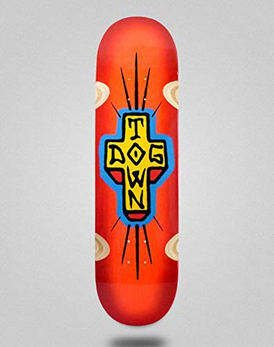 lordofbrands Monopatin Skate Skateboard Dogtown Spray Cross Loose Trucks Deck 8.5x32.5 Neon Orange Red