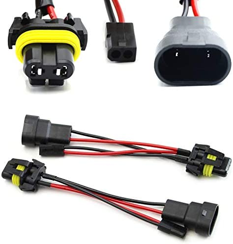 iJDMTOY 2 9006 9005 To Bi Xenon Solenoid Magnetic Hi Lo Adapter Splitter Wires Compatible With product image