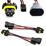 iJDMTOY (2) 9006/9005 To Bi-Xenon Solenoid Magnetic Hi/Lo Adapter Splitter Wires Compatible With Headlamp Projector Lens Retrofit