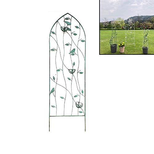 Garden Trellis for Climbing Plants, Iron Arched Garden Trellis Fence Panel Obelisk, Potted Pots Supports, for Climbing Vegetables Flower Patio Roses Clematis