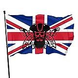 Blackbeard Skull Pirate Garden Flag 3x5 Ft Garden Flag Stand Single-sided Printing Garden Flag Easy to Install for Party