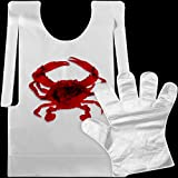 What you get: you will get 50 pieces plastic bibs, sufficient enough to keep you clean at the crab and lobster dinner Size information: poly crab bibs are 36 x 54 cm/ 14 x 21 inch, and each has a 6 cm hem at the bottom, which can well protect your cl...