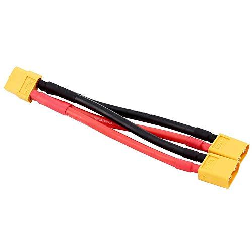 ICQUANZX XT60 Cable de Conector de batería Paralelo Divisor Doble de extensión...