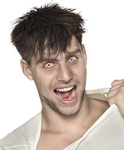 Kontaktlinsen 3-Monats-Motivlinsen - Psycho - Weiß Rote Linsen Psycho Halloween Cosplay Kostüme