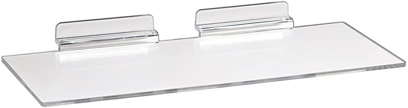 Econoco Commercial Injection Molded Styrene Shoe Shelf, Clear (Pack of 100) (JM410/ST)