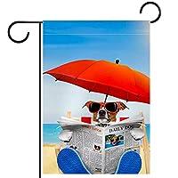 庭の旗芝生の装飾庭の装飾屋外の農家の装飾ホオジロ旗ビーチの犬 両面バナー