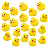 Codall Mini Yellow Rubber Bath Ducks for Child(2.1', 20pcs)