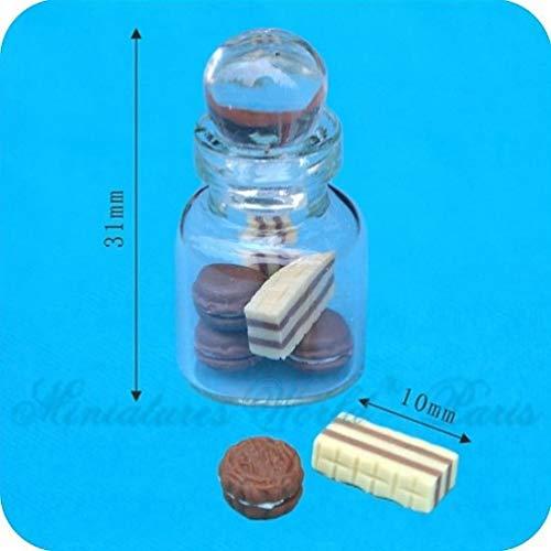 Miniatures World - Glazen pot gevuld met snoepjes voor miniatuurdecoraties en poppenhuizen in schaal 1:12