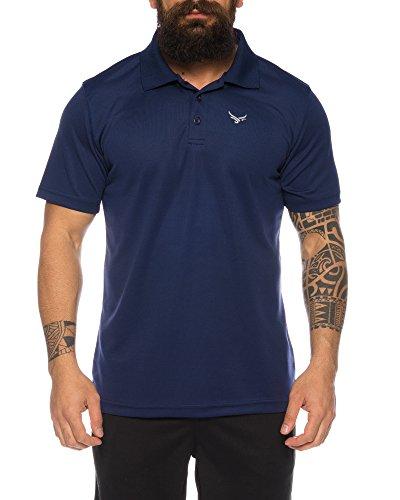 Raff & Taff Polo Shirt Fitness Shirt hochwertiges Atmungaktives Funktionsshirt T-Shirt Freizeit Shirt (Nevi, 6XL)